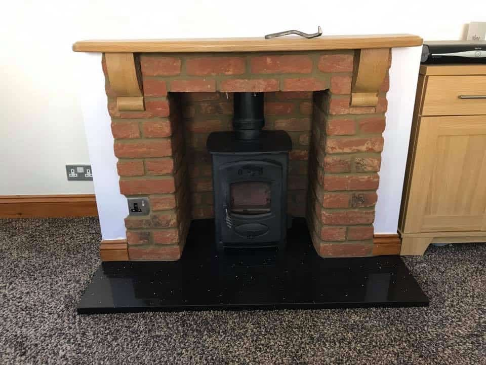fireplace brick slips and new granite hearth installed in gillingham kent