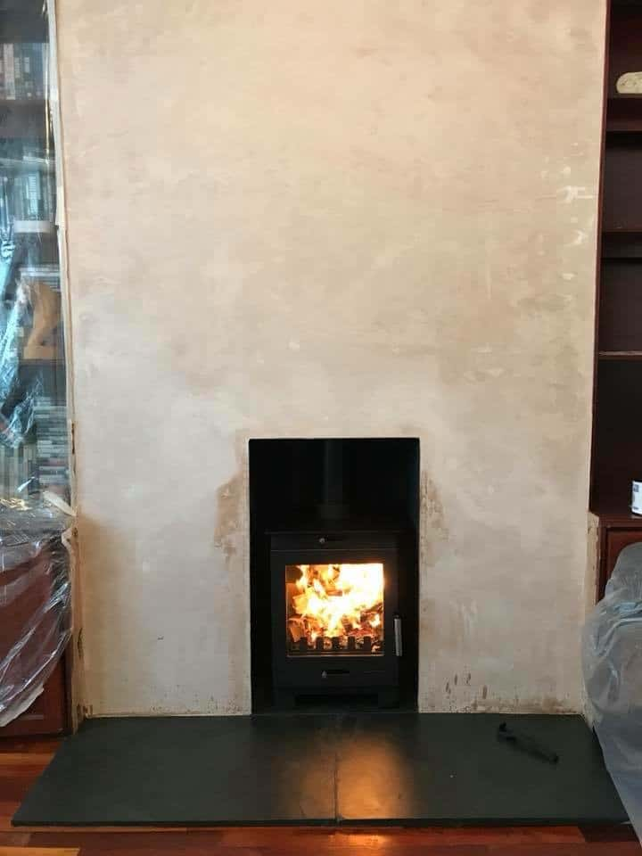 Flavel arundel multi fuel stove and chimney flue liner installed in sittingbourne kent
