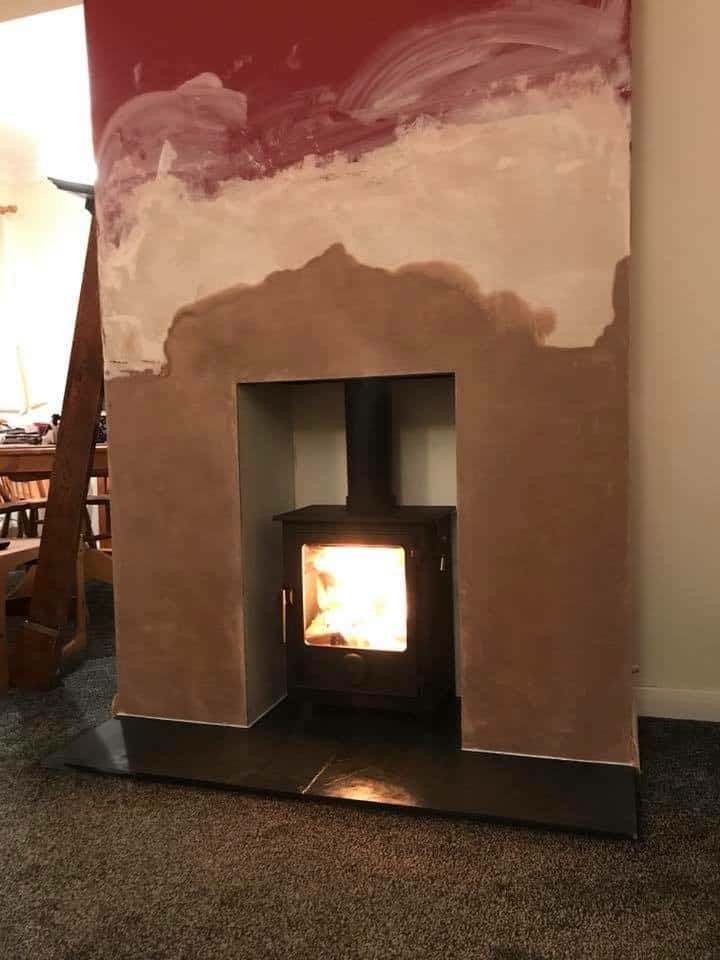 Dean forge Dartmoor 5 woodburning stove and chimney liner installed in herne bay kent