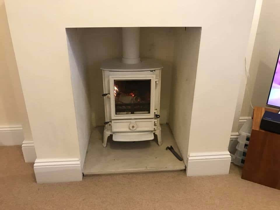 stovax brunel 2cb multi fuel stove and chimney liner installed in hythe kent
