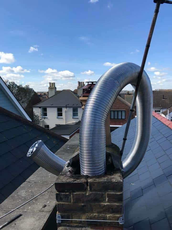 A recent chimney re line with an 8